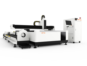 Plates And Pipes Fiber Laser Cutting Machine With Exchange Table OPT-1530GW