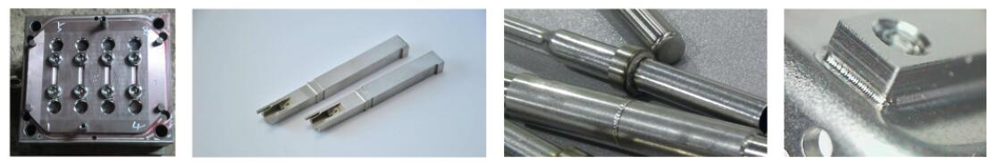 Mold samples welded by mold welding machine